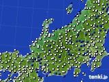 北陸地方のアメダス実況(風向・風速)(2019年02月17日)