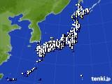アメダス実況(風向・風速)(2019年02月17日)