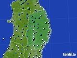 2019年02月18日の岩手県のアメダス(気温)