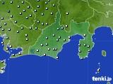 静岡県のアメダス実況(降水量)(2019年02月19日)