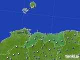 鳥取県のアメダス実況(降水量)(2019年02月19日)