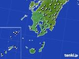 鹿児島県のアメダス実況(降水量)(2019年02月19日)