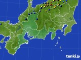 東海地方のアメダス実況(積雪深)(2019年02月20日)