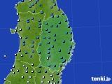 2019年02月20日の岩手県のアメダス(気温)