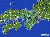 近畿地方のアメダス実況(風向・風速)(2019年02月20日)