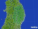 2019年02月21日の岩手県のアメダス(気温)