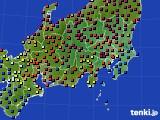 2019年02月22日の関東・甲信地方のアメダス(日照時間)