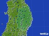 2019年02月22日の岩手県のアメダス(気温)