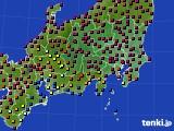 2019年02月24日の関東・甲信地方のアメダス(日照時間)