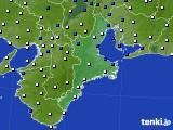 2019年02月26日の三重県のアメダス(風向・風速)