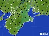 2019年03月01日の三重県のアメダス(風向・風速)