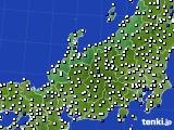 北陸地方のアメダス実況(風向・風速)(2019年03月03日)