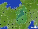 滋賀県のアメダス実況(風向・風速)(2019年03月04日)