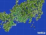 東海地方のアメダス実況(風向・風速)(2019年03月13日)
