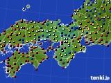 2019年03月14日の近畿地方のアメダス(日照時間)