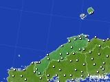 島根県のアメダス実況(気温)(2019年03月18日)