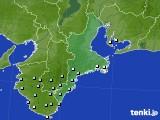 三重県のアメダス実況(降水量)(2019年03月19日)