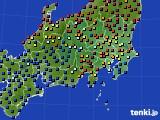 関東・甲信地方のアメダス実況(日照時間)(2019年03月19日)
