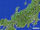 北陸地方のアメダス実況(風向・風速)(2019年03月20日)