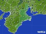 2019年03月20日の三重県のアメダス(風向・風速)