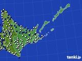 道東のアメダス実況(風向・風速)(2019年03月20日)