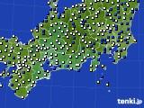 東海地方のアメダス実況(風向・風速)(2019年03月21日)