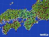 2019年03月24日の近畿地方のアメダス(日照時間)
