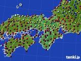 2019年03月27日の近畿地方のアメダス(日照時間)