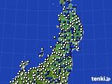 2019年03月28日の東北地方のアメダス(風向・風速)