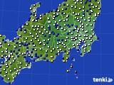 2019年03月31日の関東・甲信地方のアメダス(風向・風速)
