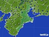 2019年03月31日の三重県のアメダス(風向・風速)