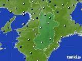 奈良県のアメダス実況(風向・風速)(2019年03月31日)