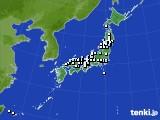 アメダス実況(降水量)(2019年04月01日)