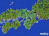 2019年04月01日の近畿地方のアメダス(日照時間)