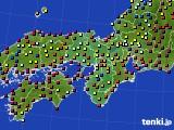 2019年04月03日の近畿地方のアメダス(日照時間)