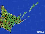道東のアメダス実況(日照時間)(2019年04月03日)
