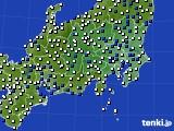 2019年04月03日の関東・甲信地方のアメダス(風向・風速)