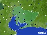 2019年04月03日の愛知県のアメダス(風向・風速)