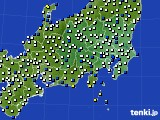 2019年04月04日の関東・甲信地方のアメダス(風向・風速)
