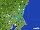 茨城県のアメダス実況(風向・風速)(2019年04月04日)
