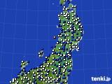 2019年04月05日の東北地方のアメダス(風向・風速)