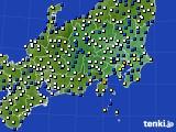 関東・甲信地方のアメダス実況(風向・風速)(2019年04月05日)