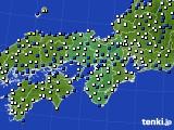 近畿地方のアメダス実況(風向・風速)(2019年04月05日)