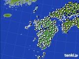 九州地方のアメダス実況(風向・風速)(2019年04月05日)