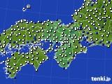 近畿地方のアメダス実況(風向・風速)(2019年04月06日)