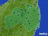 福島県のアメダス実況(風向・風速)(2019年04月06日)