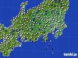 2019年04月07日の関東・甲信地方のアメダス(風向・風速)