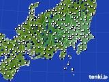 2019年04月08日の関東・甲信地方のアメダス(風向・風速)