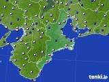 2019年04月08日の三重県のアメダス(風向・風速)