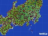 関東・甲信地方のアメダス実況(日照時間)(2019年04月09日)